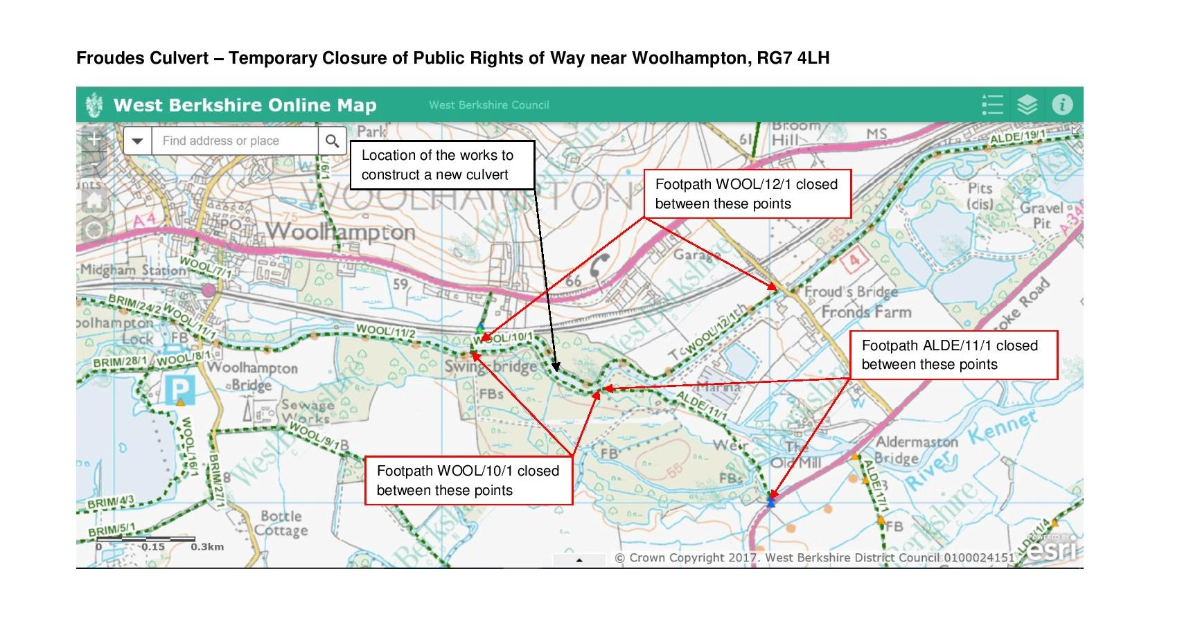Froudes Culvert Plan Showing Temporary Closure of Public Rights of Way page 001 1